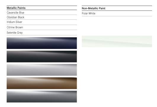 Colour Options for Mercedes E Class